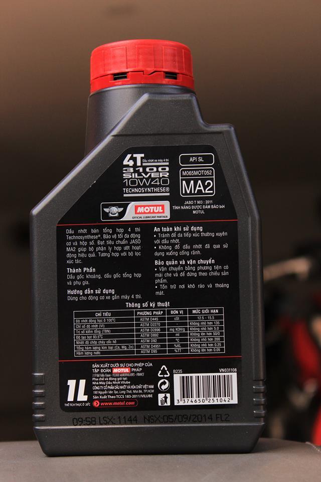 Ý nghĩa các chỉ số dầu nhớt - 1