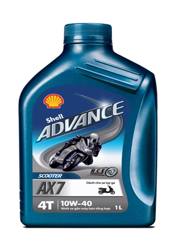 Shell advance ax7 scooter 10w40 1l - 1