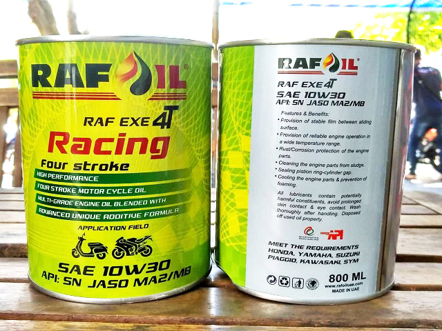 Nhớt raf oil racing 10w30 08l - 1
