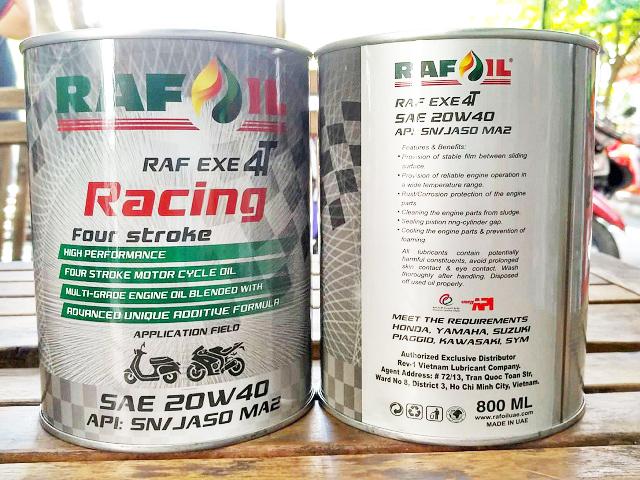 Nhớt raf oil racing 20w40 08l - 1