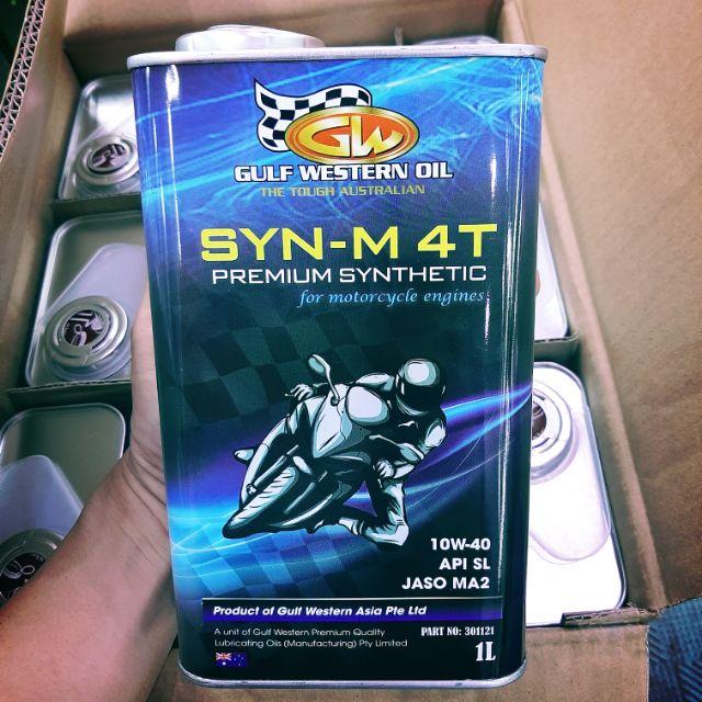 Nhớt gulf western syn-m 4t premium 10w40 1l - 1