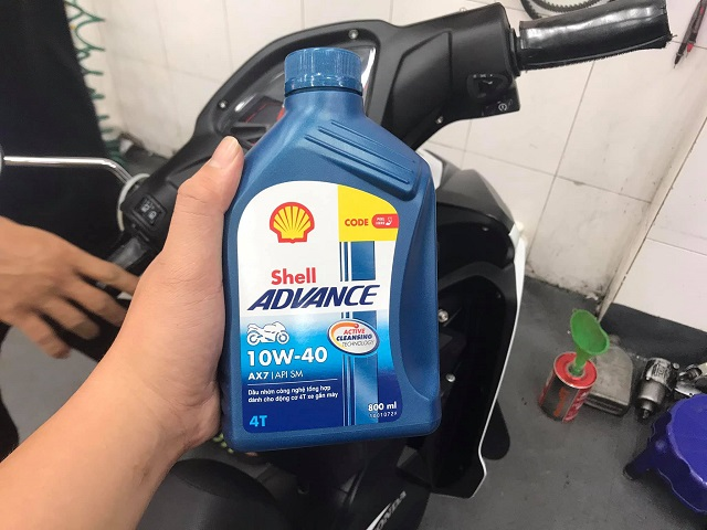 Shell advance 4t ax7 10w40 synthetic based - 1