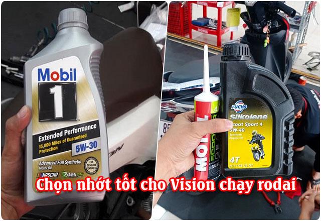 Chọn nhớt nào tốt cho xe Vision mới mua chạy rodai?