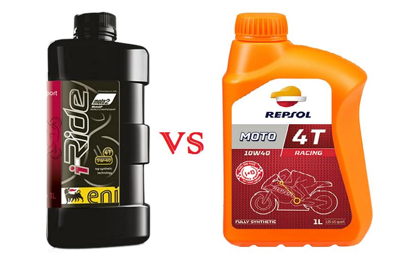 So sánh nhớt Eni I-Ride Moto2 với nhớt Repsol Moto Racing