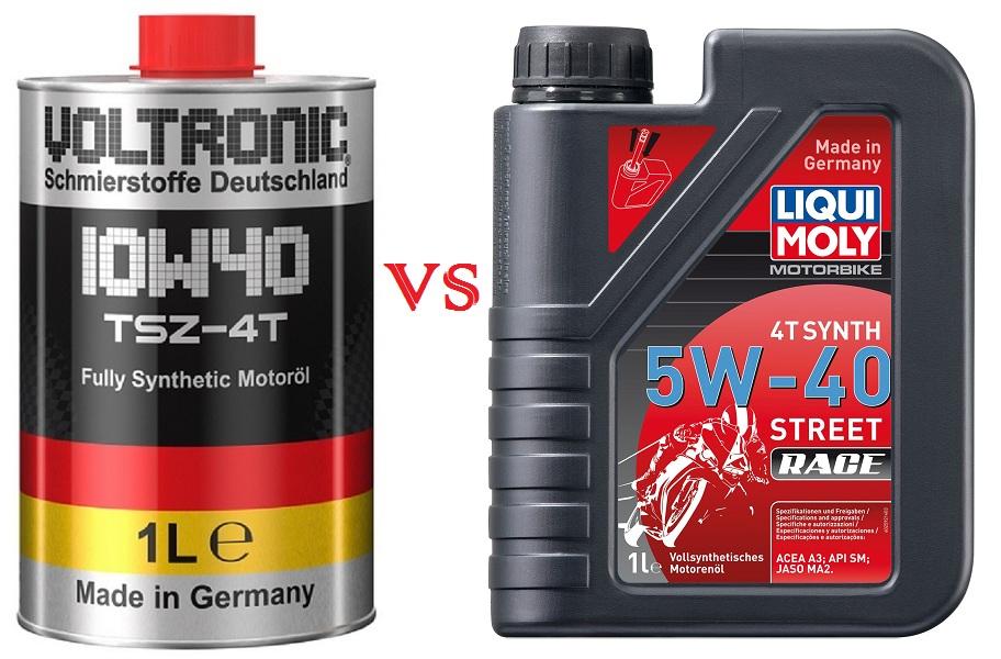 So sánh nhớt Voltronic TSZ với nhớt Liqui Moly Motorbike Synth