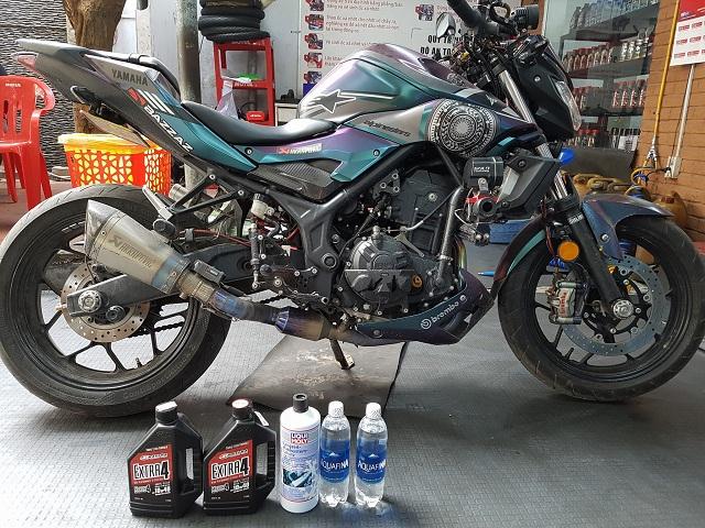 Thay nhớt cho Yamaha MT- 03 loại nhớt nào tốt, giúp xe bốc máy ?