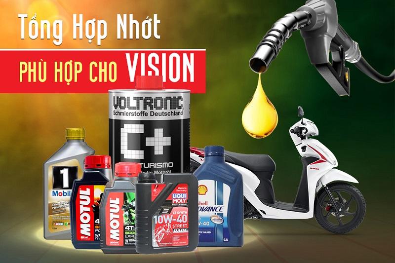 Tổng hợp nhớt xe máy tốt nhất phù hợp cho Vision Fi